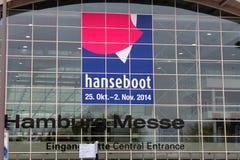 2014年10月31日的Hanseboot商展 库存照片
