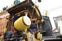 2013年10月19日的Kawagoe节日在Kawagoe 库存照片