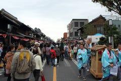 2013年10月19日的Kawagoe节日在Kawagoe 免版税库存图片