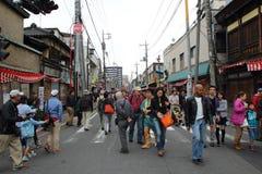 2013年10月19日的Kawagoe节日在Kawagoe 免版税库存照片