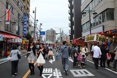 2013年10月19日的Kawagoe节日在Kawagoe 库存图片