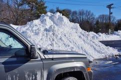 2016年1月23日的snowzilla乔纳斯飞雪雪冬天风暴 库存照片