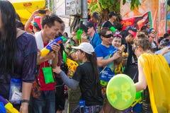 2015年4月14日的Songkran节日Chiangmai,泰国 图库摄影