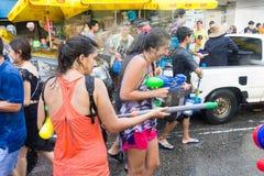 2015年4月14日的Songkran节日Chiangmai,泰国 免版税库存图片