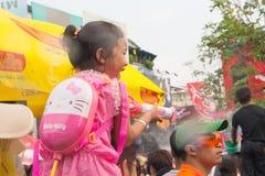 2015年4月14日的Songkran节日Chiangmai,泰国 库存图片
