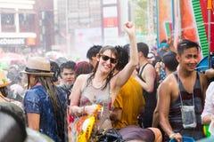 2015年4月14日的Songkran节日Chiangmai,泰国 免版税图库摄影