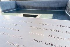 9月11日纪念品在更低的曼哈顿, NYC 免版税图库摄影