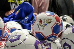 6月2018 14日莫斯科,俄罗斯 国际足球联合会2018年世界第一次比赛Fo 免版税库存照片