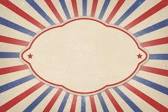 7月4日阵亡将士纪念日邀请海报背景 免版税图库摄影