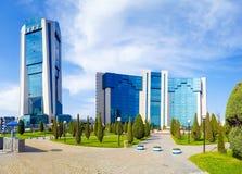 2017年4月04日,乌兹别克斯坦,塔什干,乌兹别克斯坦,乌兹别克斯坦国家银行的外国经济活动国家银行  免版税图库摄影