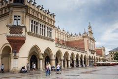 2017年7月10日,克拉科夫,波兰-老市中心,克拉科夫市场Squa 免版税库存照片