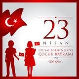 4月23日,全国主权和儿童` s天 免版税库存图片
