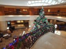 2016年12月16日,吉隆坡 在旅馆大厅的圣诞节Deco 免版税库存照片