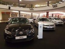 2016年10月1日,吉隆坡 大众在山顶USJ商业区的汽车显示,马来西亚 库存图片