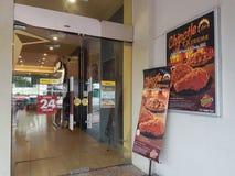 2016年11月29日,吉隆坡 得克萨斯鸡出口在吉隆坡 免版税图库摄影