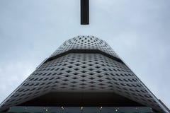 5月2018 7日,在12:00,日产大厦的看法从银座横穿的在东京 库存图片