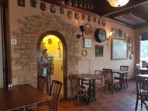 2016年11月7日,柔佛州,马来西亚 乔治和龙咖啡馆服务了英国烹调 库存照片