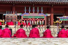 2014年11月1日,汉城,韩国:在Jongmyo寺庙的Jerye仪式 图库摄影
