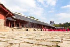 2014年11月1日,汉城,韩国:在Jongmyo寺庙的Jerye仪式 库存图片