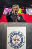 2016年10月15日,爱迪生, NJ -唐纳德・川普讲话在'人类的爱迪生新泽西印度印地安美国集会被团结反对T 免版税库存图片