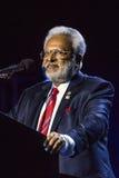 2016年10月15日,爱迪生, NJ -唐纳德・川普集会的Shalabh库马尔在'人类的爱迪生新泽西印度印地安美国集会 免版税库存图片