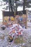 2001 9月11日,纪念品,普莱西德湖城, NY 库存图片