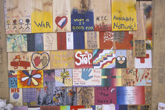 2001 9月11日,纪念品,纽约, NY 免版税图库摄影