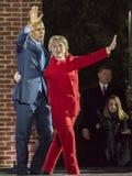 2016年11月7日,美国独立纪念馆,菲尔 PA -奥巴马总统和民主党总统候选人希拉里・克林顿举行Electi 免版税库存图片