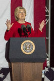 2016年11月7日,美国独立纪念馆,菲尔 PA -希拉里・克林顿举行竞选伊芙出去与布鲁斯・斯普林斯廷的表决集会 免版税库存照片