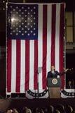 2016年11月7日,美国独立纪念馆,菲尔 PA -贝拉克・奥巴马总统讲话在竞选伊芙出去表决镭的希拉里・克林顿 图库摄影