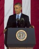2016年11月7日,美国独立纪念馆,菲尔 PA -贝拉克・奥巴马总统讲话在竞选伊芙出去表决镭的希拉里・克林顿 免版税库存照片