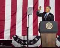 2016年11月7日,美国独立纪念馆,菲尔 PA -贝拉克・奥巴马总统讲话在竞选伊芙出去表决镭的希拉里・克林顿 免版税库存图片
