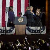 2016年11月7日,美国独立纪念馆,菲尔 PA -比尔和切尔西・克林顿Mezvinsky和第一米歇尔・奥巴马夫人欢迎主持 免版税库存图片