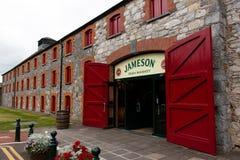 2017年7月29日,蒸馏器走, Midleton, Co黄柏,爱尔兰-对詹姆森经验的大门 库存图片