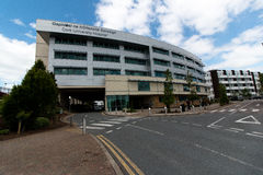2017年6月6日,黄柏,爱尔兰-塞住大学医院 免版税库存照片