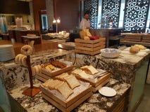 2016年11月4日,仁爱路旅馆Habour柔佛州Baru,柔佛州 港口Café是一个整天用餐的出口 库存照片