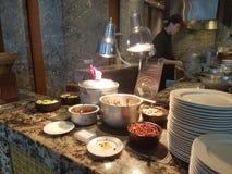 2016年11月4日,仁爱路旅馆Habour柔佛州Baru,柔佛州 港口Café是一个整天用餐的出口 免版税库存图片
