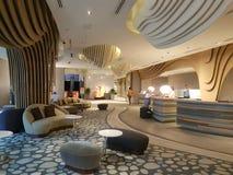 2016年11月8日,仁爱路Puteri港口旅馆柔佛州Baru,马来西亚大厅休息室设计 库存照片