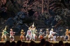 2015年12月12日, Khon是舞蹈戏曲泰国古典掩没, 图库摄影