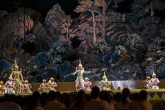 2015年12月12日, Khon是舞蹈戏曲泰国古典掩没, 免版税图库摄影