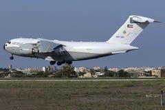2015年9月4日, Luqa,马耳他:C-17着陆 免版税库存图片