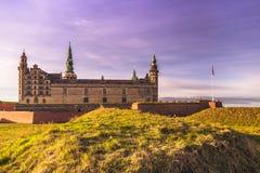 2016年12月03日:克伦堡城堡在赫尔新哥,丹麦 库存照片