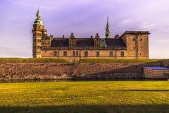 2016年12月03日:克伦堡城堡门面在赫尔新哥, Denm 图库摄影