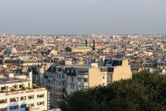 巴黎- 2012年9月04日:全景的巴黎 库存图片
