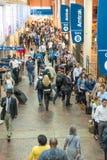 2014年10月2日:华盛顿特区, -内部观点的人移动 免版税图库摄影