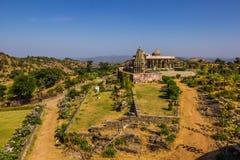 2014年11月08日:在Kumbhalgarh堡垒附近的区域,印度 免版税图库摄影