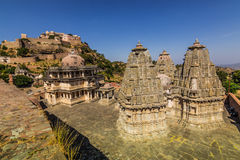 2014年11月08日:在Kumbhalgarh堡垒附近的区域,印度 免版税库存照片