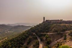 2014年11月04日:在Nahargarh堡垒附近的风景在斋浦尔 库存照片