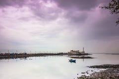 2014年11月15日:孟买,印度海岸的全景  库存照片