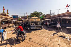 2014年11月06日:旅游中心在乔德普尔城,印度 图库摄影